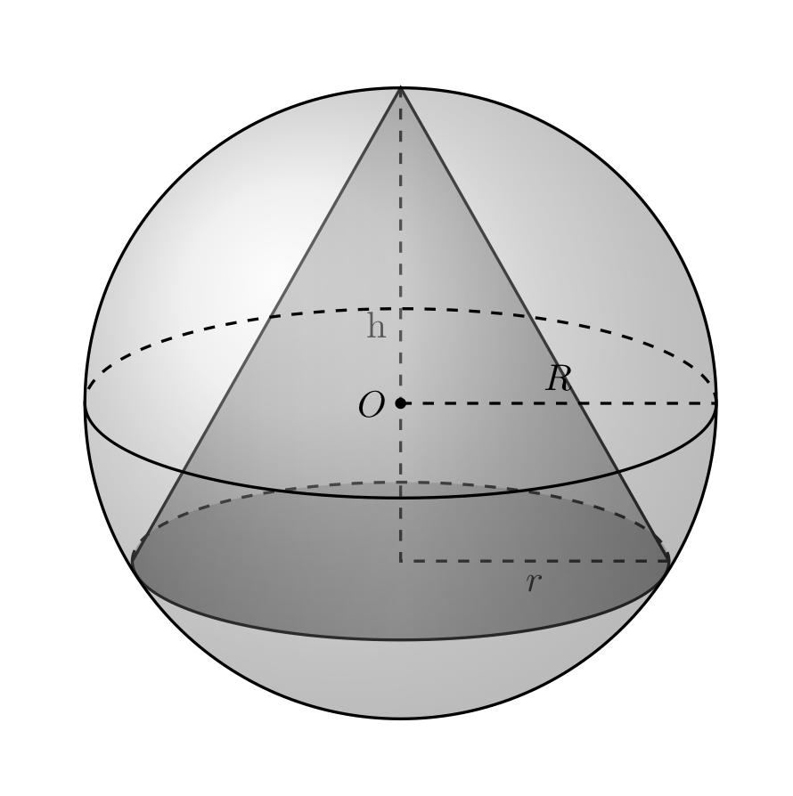 Cono inscritto in una sfera